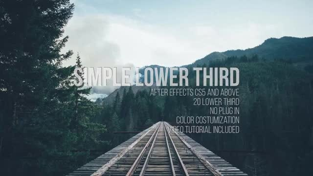 Simple Lower Third: After Effects Templates