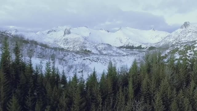 Mountainous Landscape Covered By Snow: Stock Video