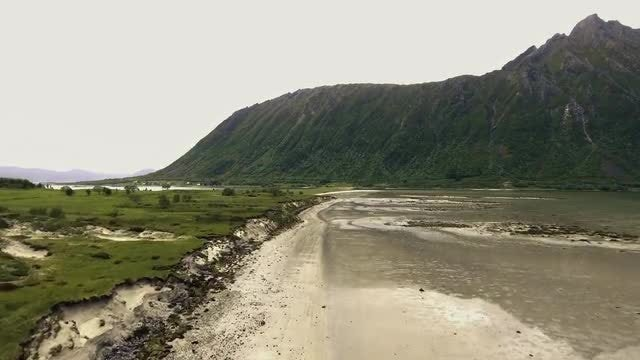 Tilting Shot Of Mountainous Island: Stock Video