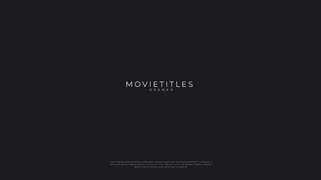 Movie Titles Opener 4K: After Effects Templates