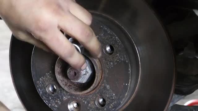 Car Brake Disc Disassembly: Stock Video