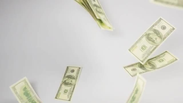 Dollar Banknotes Cascading Down: Stock Video