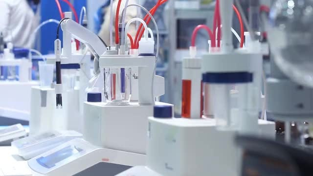 Busy In Science Research Laboratory: Stock Video
