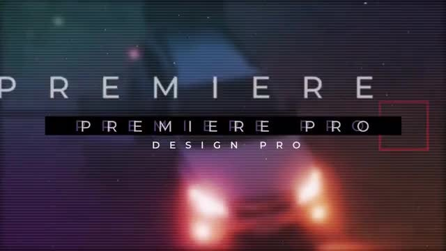 Modern Glitch Slideshow: Premiere Pro Templates