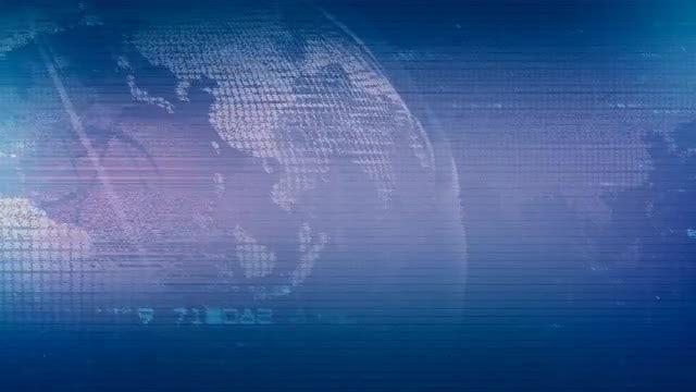 Globe Glitch Background: Stock Motion Graphics