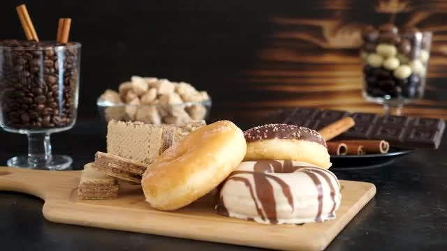 Desserts And Pastries On Table : Stock Video