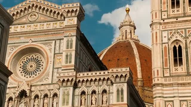 Beautiful Renaissance Buildings In Florence: Stock Video