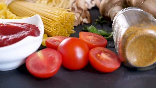 Pasta And Fresh Vegetables : Stock Video