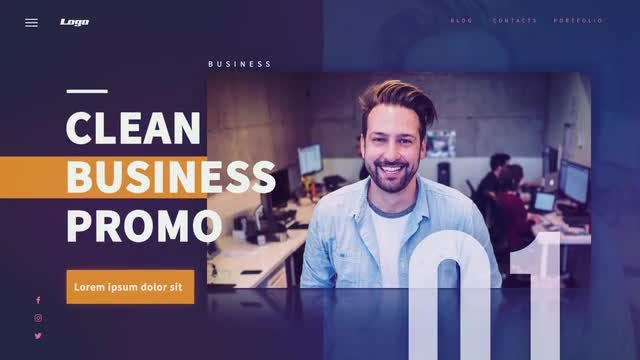 Clean Business Promo: After Effects Templates