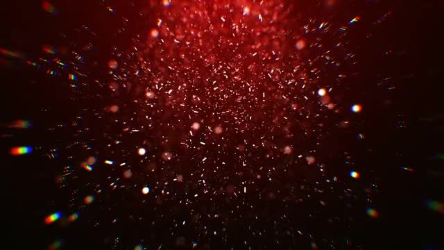 Red Light Particles : Stock Motion Graphics