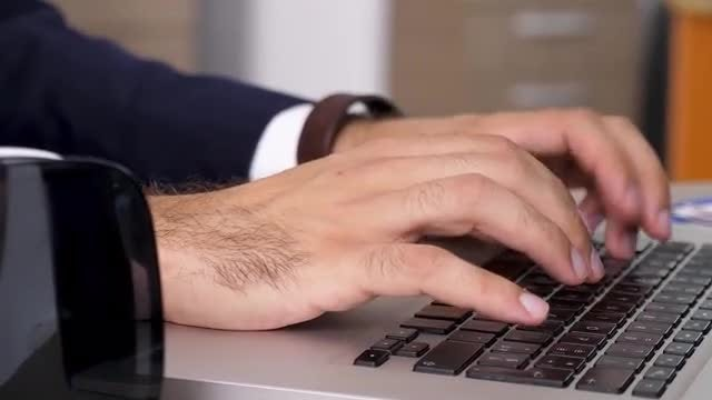Man Typing On Laptop: Stock Video