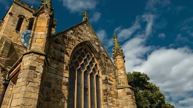 Old Gothic Church In England: Stock Video