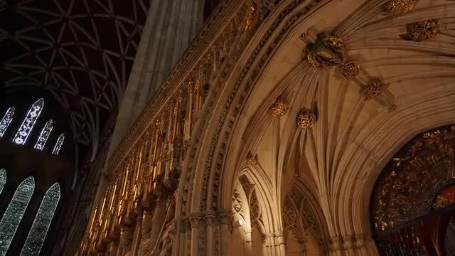 Interior Of York Minster: Stock Video