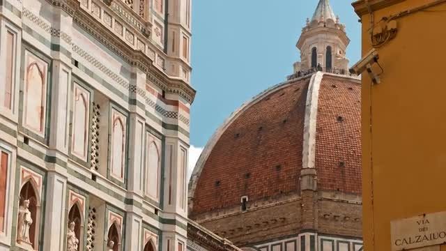 Florence Old Town, Tuscany, Italy: Stock Video