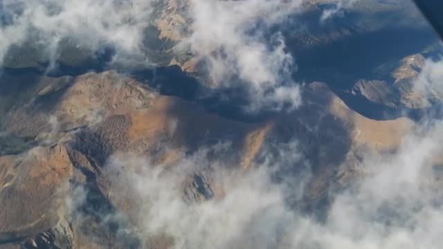 Clouds Over Mountains Aerial: Stock Video