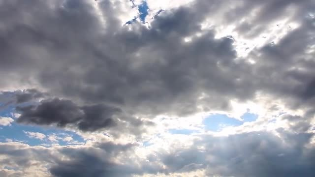 Dark Rain Clouds Time Lapse: Stock Video