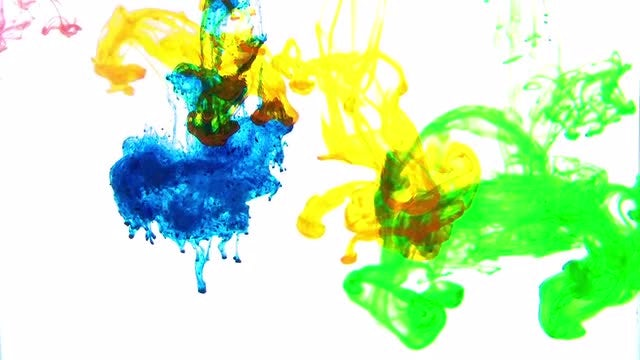 Dreamy Colors Spreading In Water: Stock Video