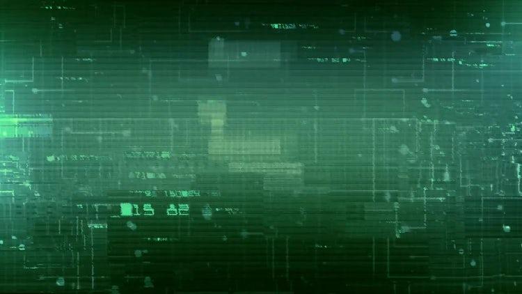 Digital Data Glitch Background: Stock Motion Graphics