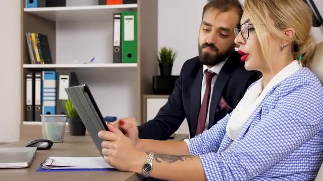 Business Partners In The Office: Stock Video