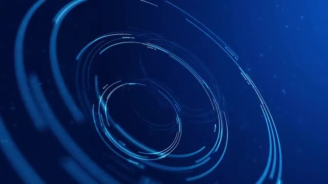 Circular Interface Hologram Loop: Stock Motion Graphics