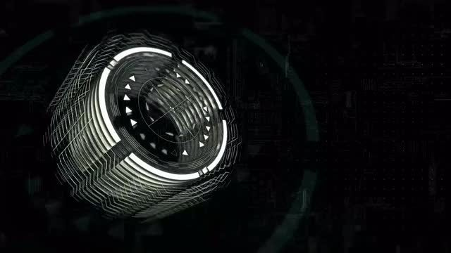 Rotating 3D Cylinder Interface: Stock Motion Graphics