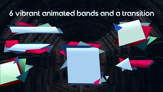 Overlapping Geometrics Elements Lower Thirds: Stock Motion Graphics