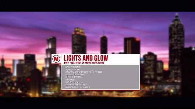 Light and Glow: After Effects Templates