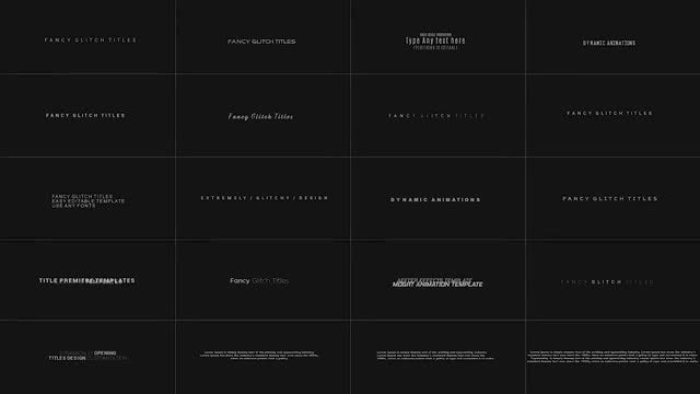 Fancy Glitch Titles: After Effects Templates