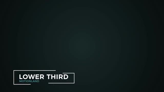 Lower Thirds Pack        : After Effects Templates