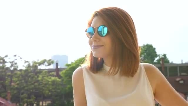 Cool Redhead In Hipster Glasses: Stock Video