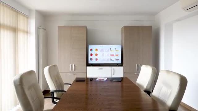 Zoom-in Shot Of Meeting Room: Stock Video