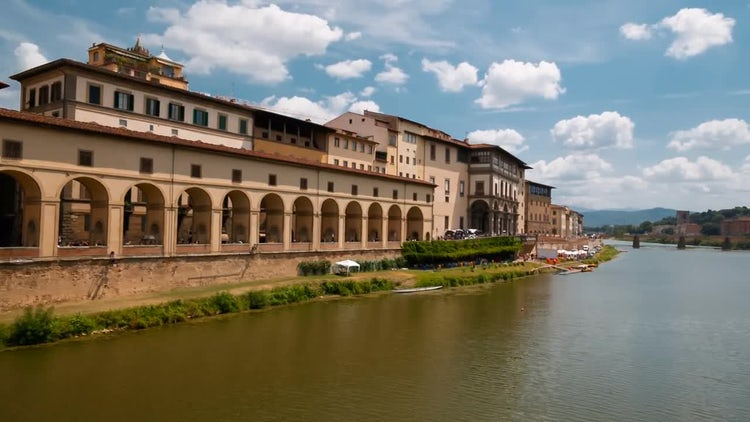 Arno River In Florence, Italy: Stock Video