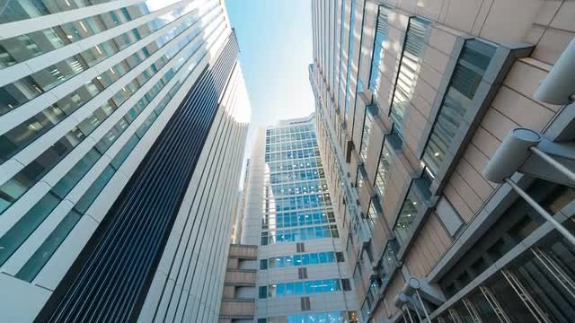Office Skyscrapers in Downtown: Stock Video