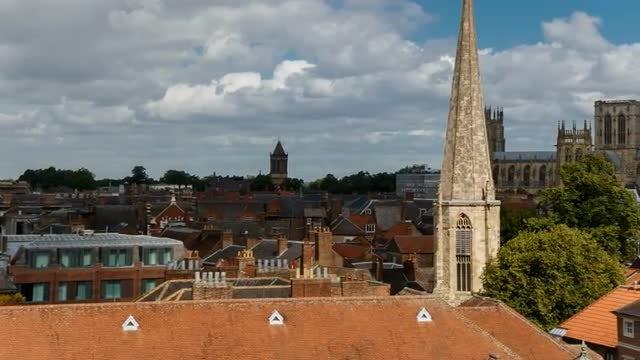 Panorama Of York, England, UK: Stock Video
