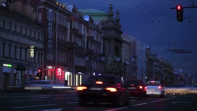 Traffic At Night: Stock Video