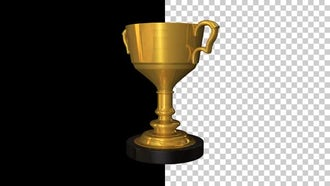 Sports Cup Golden Trophy: Motion Graphics