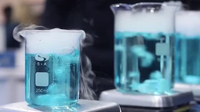 Test Samples Boiling In Flasks: Stock Video