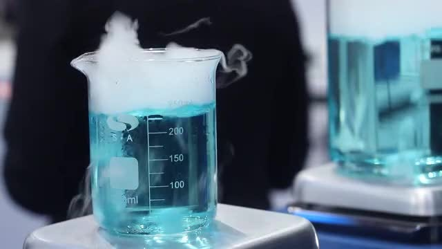 Test Samples Boiling In Laboratory: Stock Video