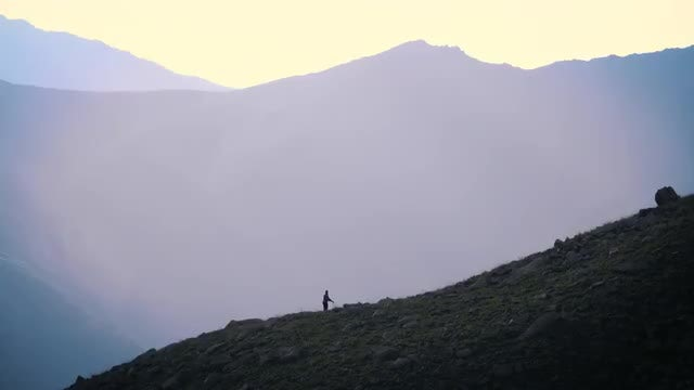 Girl Training In The Mountains : Stock Video
