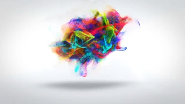 Colorful Particles Logo V2: After Effects Templates