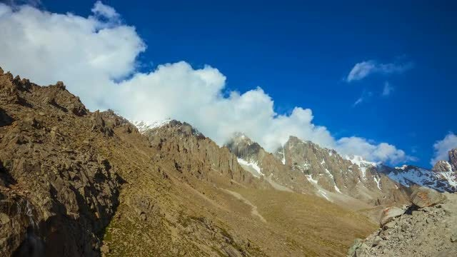 Mountains And Clouds Time Lapse : Stock Video