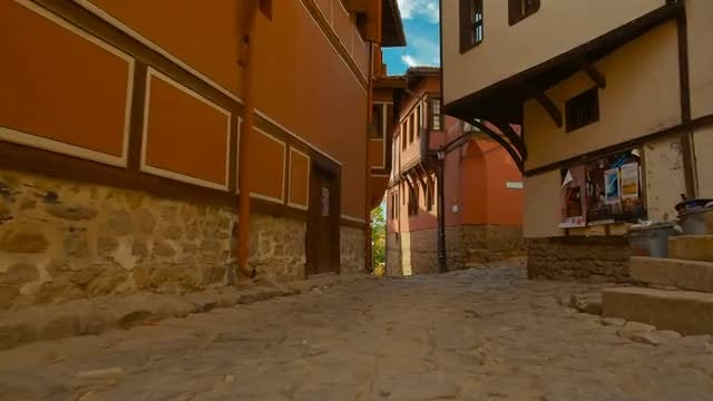 Walking The Streets Of A Medieval Town: Stock Video