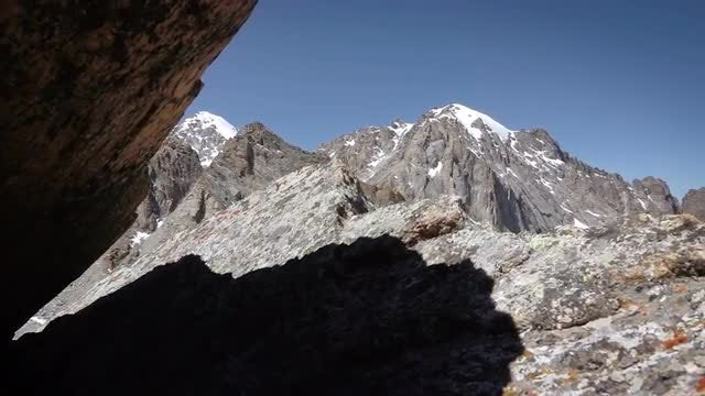 Glacial Ice On Mountains: Stock Video