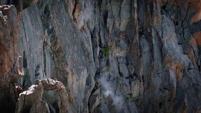 Rocks Plummeting Down The Mountain: Stock Video