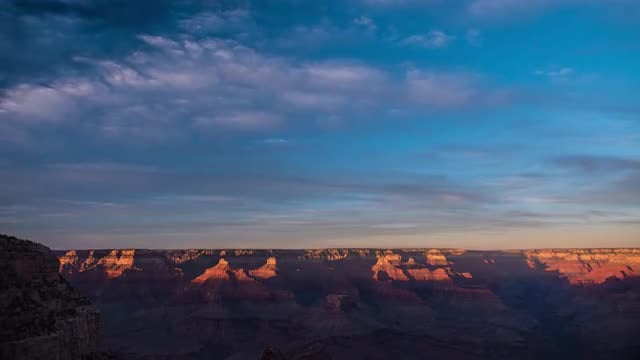 Grand Canyon Sunset Time Lapse: Stock Video