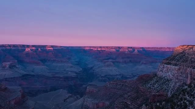 Beautiful Sunset Over Canyon Landscape: Stock Video