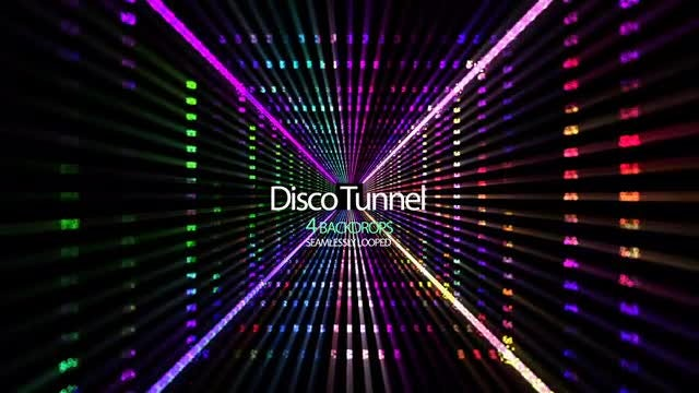 Disco Tunnel : Stock Motion Graphics