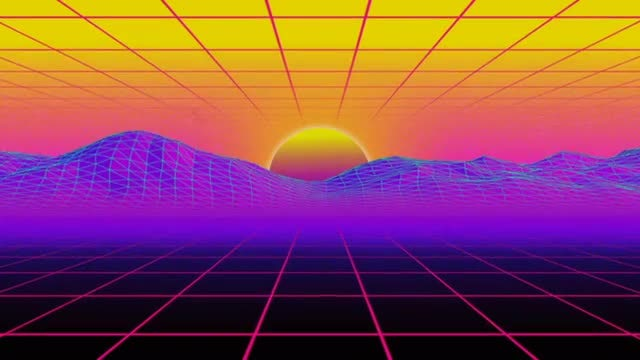 Retro Sunset: Stock Motion Graphics