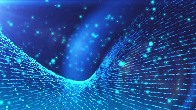 Blue Particles Surface Loop: Stock Motion Graphics
