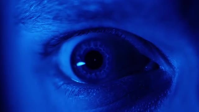 Close-up Shot Of Man's Eye: Stock Video